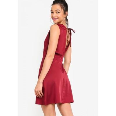 サムシングボロウド Something Borrowed レディース パーティードレス ワンピース・ドレス Open Back Fit & Flare Dress Maroon