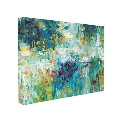 Stupell Home Decor コンテンポラリーリフレクション ブルー 抽象風景 ストレッチキャンバス ウォールアート 16 x 1.5 x 2