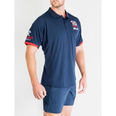 BLK メルボルン・レベルズ メディアポロシャツ 2020 AR008-425 ラグビー 通気性 速乾性