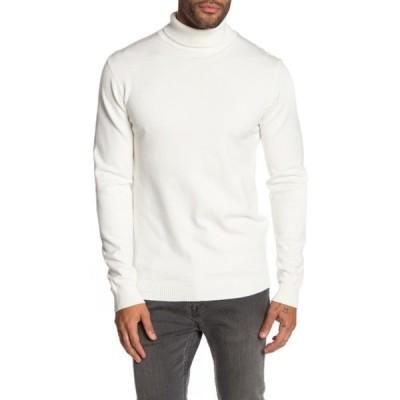 エックスレイ メンズ ニット&セーター アウター Turtleneck Pullover Sweater OFF WHITE