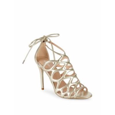 BCBG ジェネレーション レディース シューズ サンダル Joanna Metallic Caged Sandals