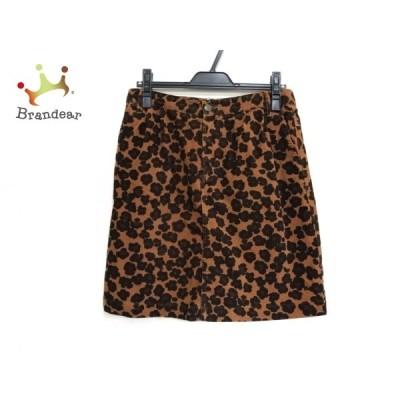 ミュベールワーク スカート サイズ38 M レディース - ブラウン×黒×ダークブラウン ひざ丈 新着 20210318