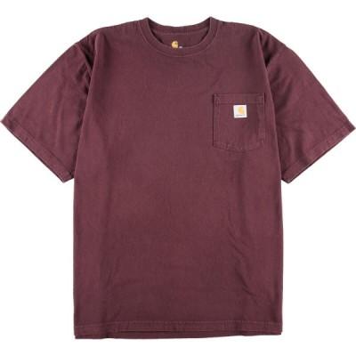 カーハート ワンポイントロゴポケットTシャツ XXL /eaa050739