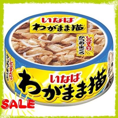 いなば キャットフード わがまま猫 しらす入り 115g6缶 (まとめ買い)