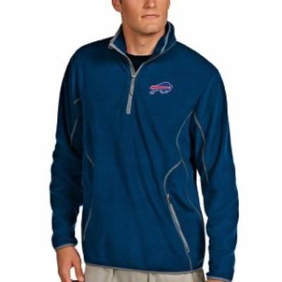 Antigua アンティグア スポーツ用品  Antigua Buffalo Bills Royal Blue Quarter Zip Microfleece Pullover Jacket