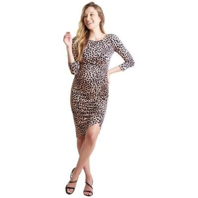 イングリッド&イザベル レディース ワンピース トップス Maternity 3/4 Sleeve Front Shirred Dress