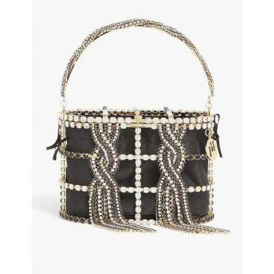 ロザンティカ ROSANTICA レディース ハンドバッグ バッグ Holli Tresse top-handle brass bag BLACK CRYSTAL