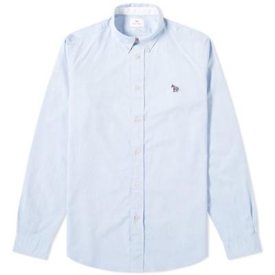 ポールスミス Paul Smith メンズ シャツ トップス button down zebra oxford shirt Sky