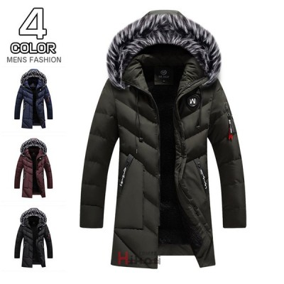 中綿ジャケット メンズ 裏起毛 キルティングジャケット アウター ジャケット 防寒 冬服 フード付き おしゃれ