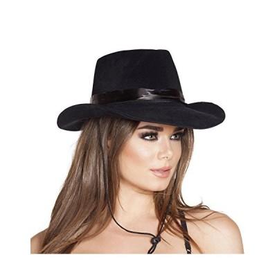 海外取寄品--カウボーイ 帽子 小物 黒 女性大人用 Black Cowboy Hat