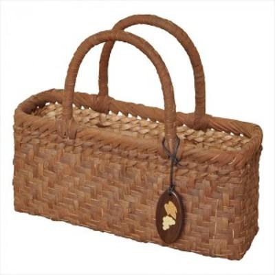 山葡萄バッグ 沢皮 網代6mm 小籠 79112 ▼編み目の美しいカゴバッグ