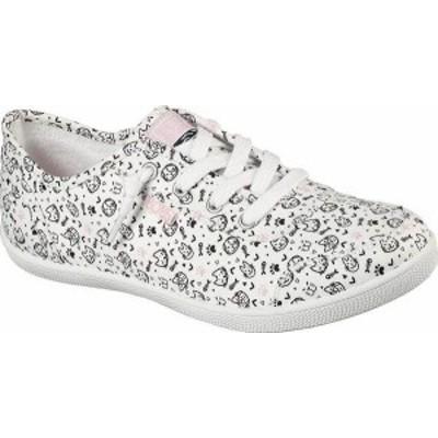 スケッチャーズ レディース スニーカー シューズ Women's Skechers BOBS B Cute Itty Kitty Vegan Slip On Sneaker White/Multi