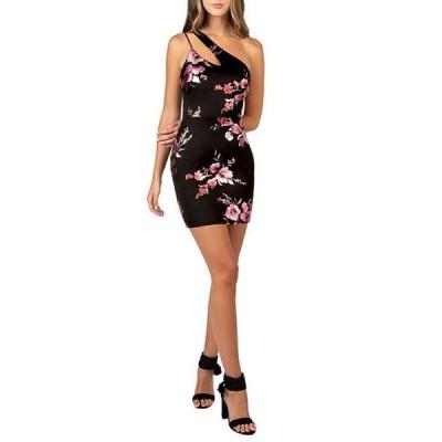 ビーダーリン レディース ワンピース トップス One Shoulder Foiled Floral Print Dress