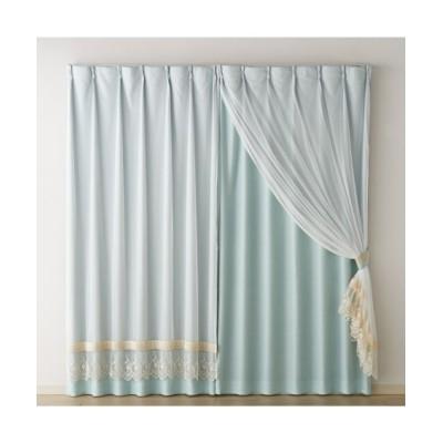 【送料無料!】遮光裏地付きチュールレース重ねカーテン ドレープカーテン(遮光あり・なし) Curtains, blackout curtains, thermal curtains, Drape(ニッセン、nissen)