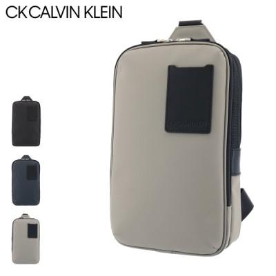 シーケーカルバンクライン ボディバッグ 本革 メンズ スペース 880901 CK CALVIN KLEIN | ワンショルダー 牛革 レザー 撥水