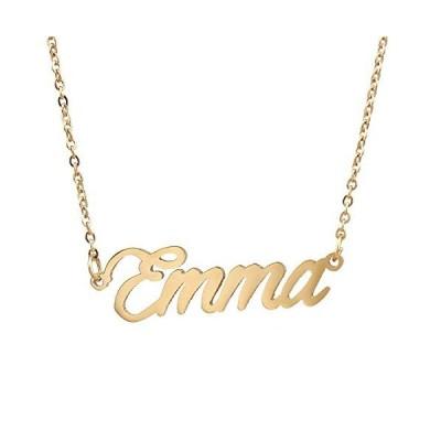 AOLOゴールドメッキネームチャームネックレスエマへの特別な贈り物並行輸入品