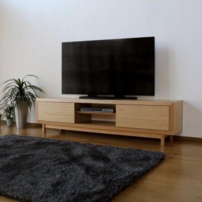 OPR   テレビ台  ローボード    ホワイトオーク  幅 180 奥行42 高さ45cm  国産 日本製 無垢材 天然木シート