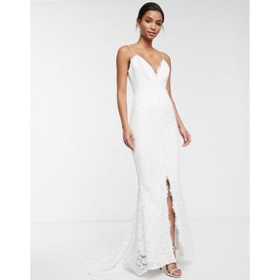 エイソス ミディドレス レディース ASOS EDITION lace cami wedding dress エイソス ASOS ホワイト 白
