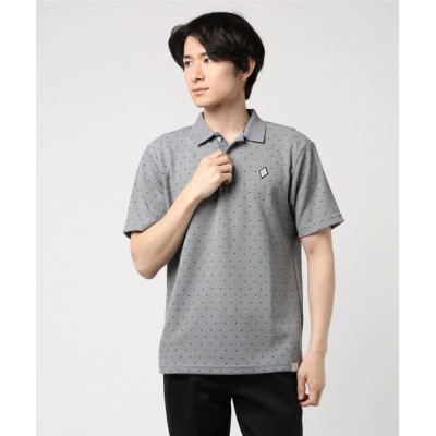 STYLEBLOCK / ドライMIXスラブカノコドット柄2ボタン半袖ポロシャツ MEN トップス > ポロシャツ