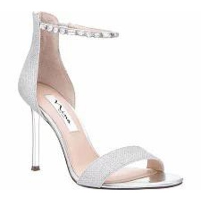 Nina レディースサンダル Nina Deena Ankle Strap Stiletto Sandal Silver Metallic