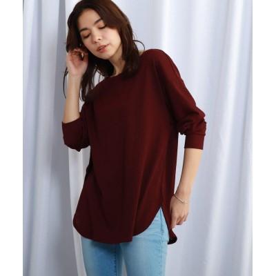 JET(ジェット) 【ウォッシャブル】楊柳風ラウンドヘムロングTシャツ