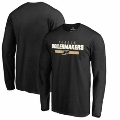 Fanatics Branded ファナティクス ブランド スポーツ用品  Fanatics Branded Purdue Boilermakers Black Team Strong Long Sleeve T-Shir