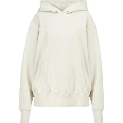 レス ティエン Les Tien レディース パーカー トップス Cotton fleece hoodie Ivory