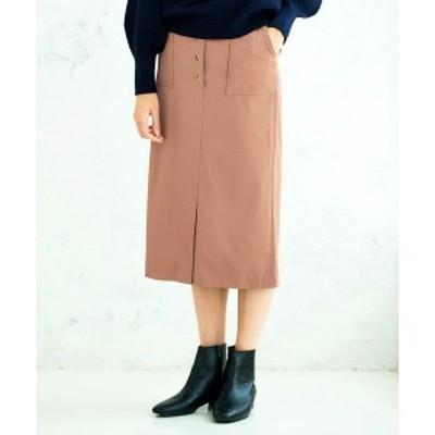 【NEW】ペルルペッシュ(Perle Peche)/ソフトフェイクレザースカート(ソフトフェイクレザースカート)