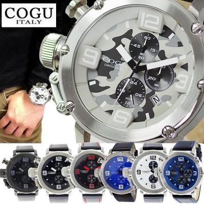 腕時計 メンズ 人気 ブランド COGU コグ ITALY イタリア C61 レザーベルト