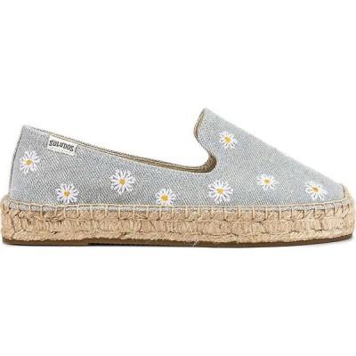ソルドス Soludos レディース エスパドリーユ シューズ・靴 daisies embroidered espadrille soludos Chambray