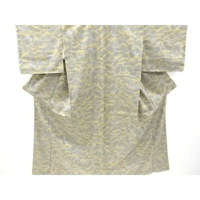 宗sou 未使用品 樹木模様織り出し西陣お召着物【リサイクル】【着】
