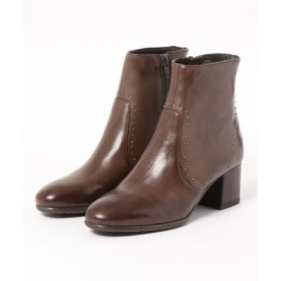 ブーツ piedi nudi/ピエディヌーディ 本革 スタッズ使い美脚ブーツ