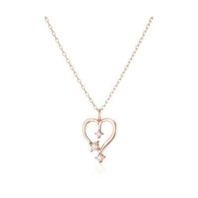 ブルーム BLOOM K10 ピンクゴールド ダイヤモンド ハートモチーフ ネックレス BAPLB1643940