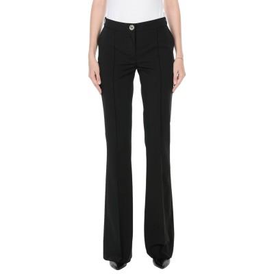 ELISABETTA FRANCHI パンツ ブラック 44 ポリエステル 90% / ポリウレタン 10% パンツ