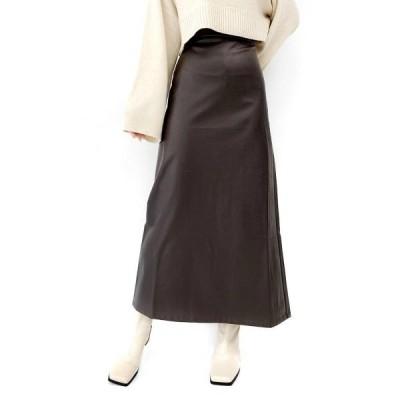 スカート Eco leather straight skirt / エコレザーストレートスカート
