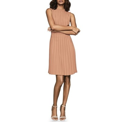 レイス レディース ワンピース トップス Linnea Sleeveless Pleat Dress PINK