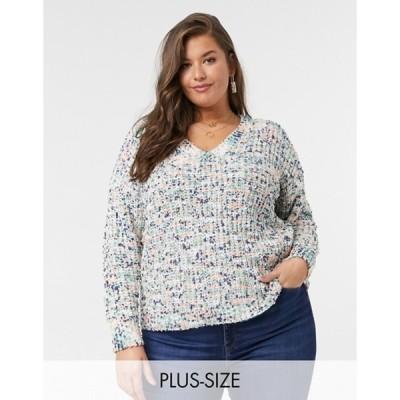 シンプリー ビー レディース ニット・セーター アウター Simply Be space dye sweater in multi