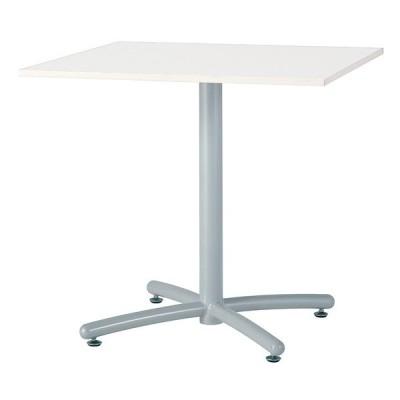 【法人様限定配送】 井上金庫販売 ミーティング テーブル UTS-S750K WH 幅750 奥行750 高さ700 mm