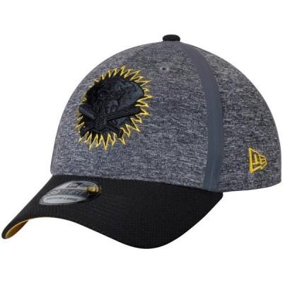 ユニセックス スポーツリーグ メジャーリーグ Oakland Athletics New Era Clubhouse 39THIRTY Flex Hat - Heathered Gray/Black 帽子