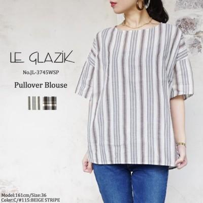 ルグラジック プルオーバー ブラウス レディース  Le Glazik Pullover Blouse LADIES  JL-3745WSP 〔SK〕