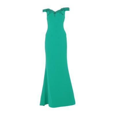 ANTONIO D'ERRICO ロングワンピース&ドレス グリーン 42 ポリエステル 88% / ポリウレタン 12% ロングワンピース&ドレス
