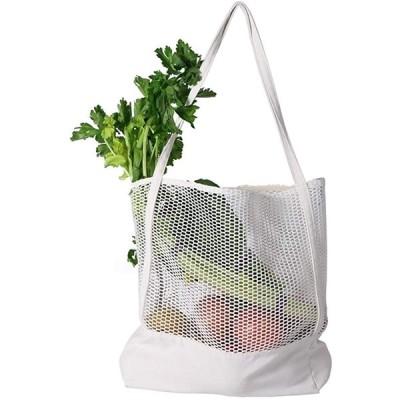環境保護のショッピングバッグ、ネットの帆布のバッグを編んで、ファッション的で、容量は大きくて、荷重力は高くて、携帯は便利です。 (ホワイト)