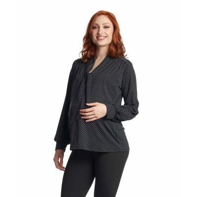 エベリーグレイ シャツ トップス レディース Vanessa Maternity Nursing Top Black Dot