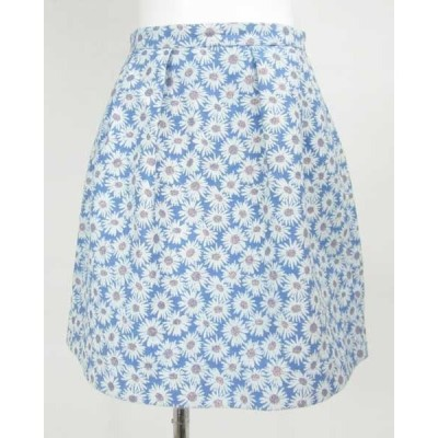 クローラ CROLLA 青×花柄スカート