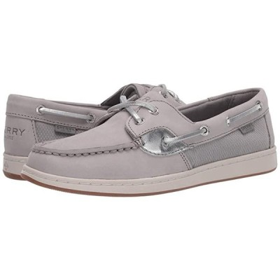 Sperry Coastfish Boat レディース ボートシューズ デッキシューズ Grey/Silver