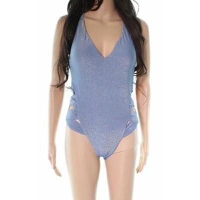 スポーツ用品 スイミング Soluna NEW Blue Shimmer Cutout Womens Size Medium M One-Piece Bikini