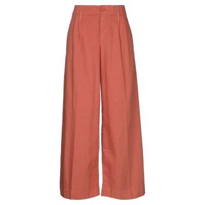 EUROPEAN CULTURE パンツ 赤茶色 XXS コットン 99% / ポリウレタン® 1% パンツ