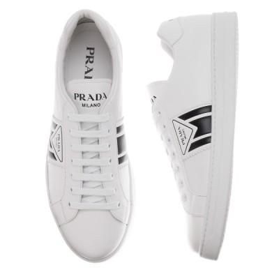 プラダ PRADA スニーカー VITELLO SOFT 10 大きいサイズあり ホワイト メンズ 4e3544-3l8u-f0964
