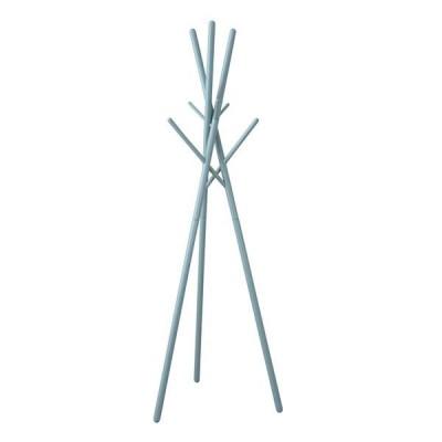 北欧風 ハンガーラック/ポールハンガー 〔ブルー〕 幅57.5cm 木製 組立品 〔寝室 ベッドルーム リビング 玄関〕
