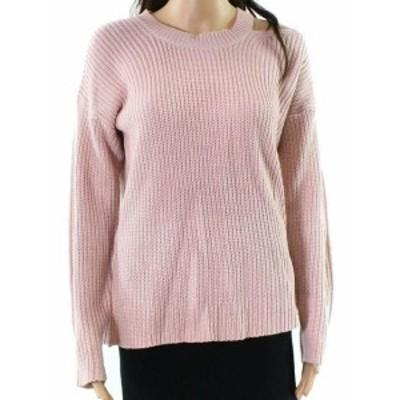 ファッション トップス RDI NEW Pink Womens Size Large L Cutout Pattern Knit Pullover Sweater